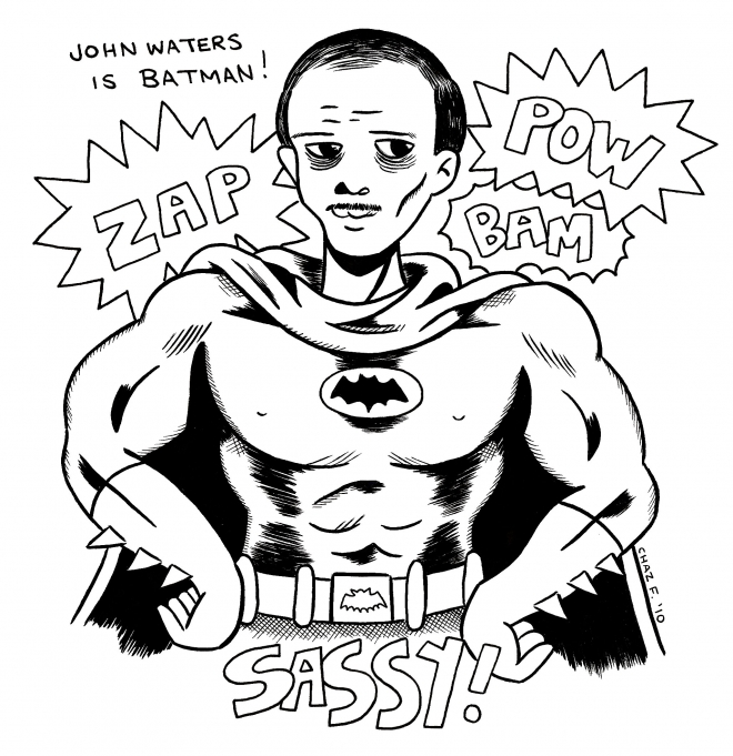 john waters as batman